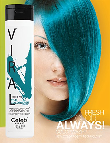 Viral Extreme Teal Color Wash