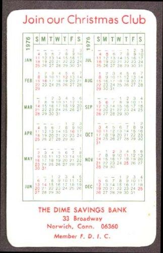 Dime Savings Bank Xmas pocket calendar 1978 Norwich CT ()