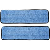 "2-pack of 18"" Inch Microfiber Wet Mop Pads for Commercial Microfiber Mops"