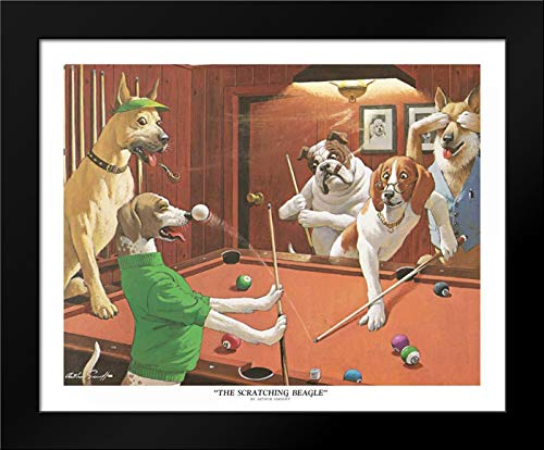 The Scratching Beagle Framed Art Print by Sarnoff, Arthur