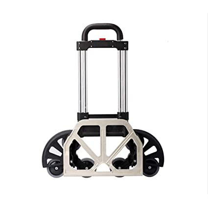 77a0940043fe Hand Truck Portable Aluminum Alloy Folding Convertible, Heavy Duty Stair  Climber Luggage Cart and Dolly Up to 170 Lb Capacity, Height Adjustable ...