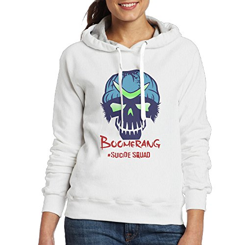 Suicide Squad Boomerang 2016 White For Women Hooded Hoodie