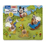 Melissa & Doug Disney Baby Mickey Mouse and Friends Wooden Jumbo Knob Puzzle