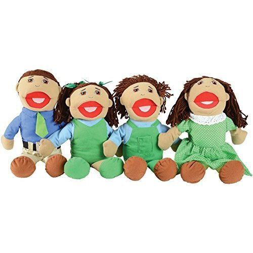 Creative Minds Latino 4 pc. Full-bodied Family Puppet Set