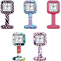 Unisex Nurses Lapel Silicone Watch (Pack of 5)