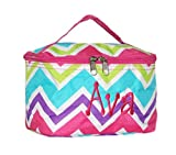 Personalized Multi Chevron Cosmetic Makup Bag