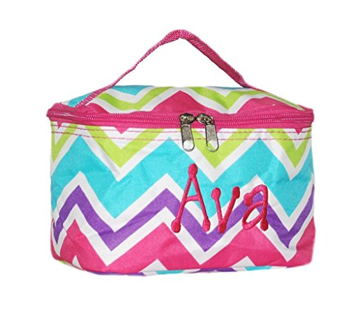 Cosmetic Bag Makeup Bag Personalized Multi Chevron