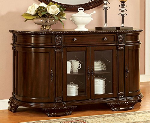 Furniture of America CM3319SV Bellagio Brown Cherry Server Dining Room (Furniture Server)