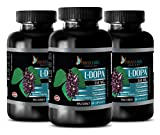 Men pills for sex - NATURAL L-DOPA 350MG - Muira puama extract capsules - 3 Bottle (180 Capsules)