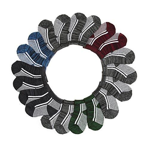 BARE HUGS Boys Infant 1/2 Cushion Socks Grey/Blue/Red 6-12