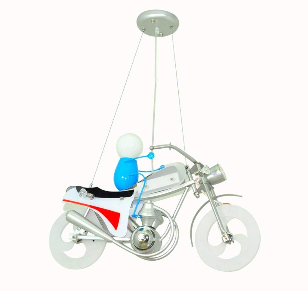 オートバイのシャンデリア ペンダントライト バーカウンター寝室の子供のための鉄ランプボディライト60 * 26 * 80 CM B07TWR98CM