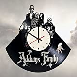 Addams Family Vinyl Wall Clock Frankenstein Unique Gifts Living Room Home Decor