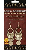 Rubie's Costume Co Gold Coin Earrings Costume