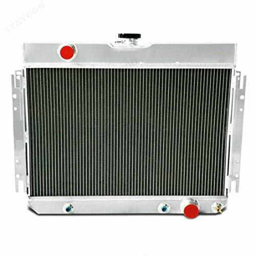 Primecooling 56MM 3 Row Core Aluminum Radiator for Impala Chevelle/Many Chevy GM Gars 1963-68 (1963 Impala Radiator)