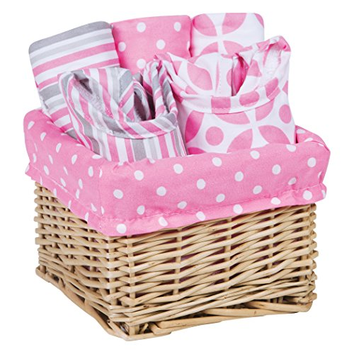 Trend Lab Lily Feeding Basket Gift Set, Pink