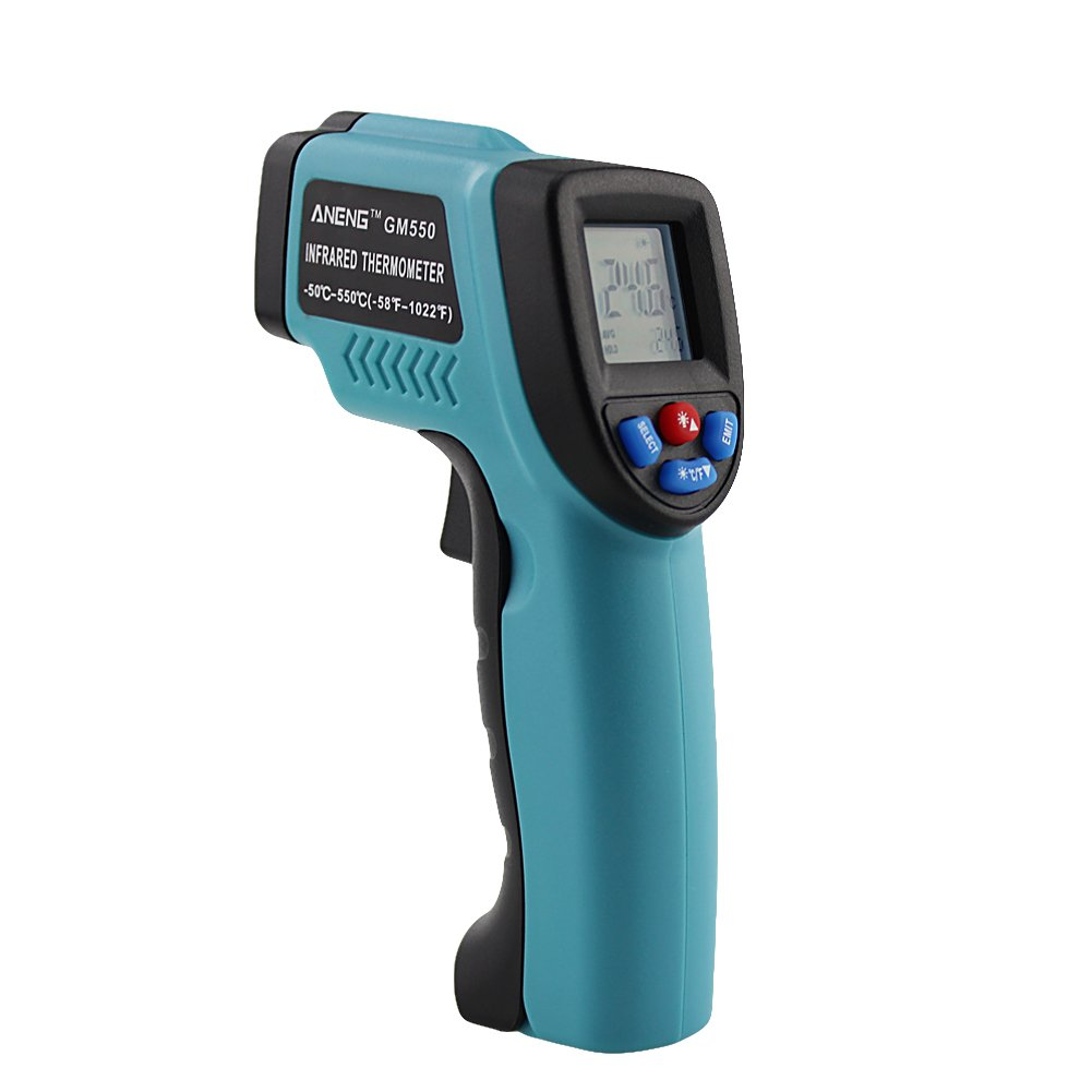 haia7k4k Temperatur-Thermometer, berührungslos, Infrarot-Laser, digital, 50~550