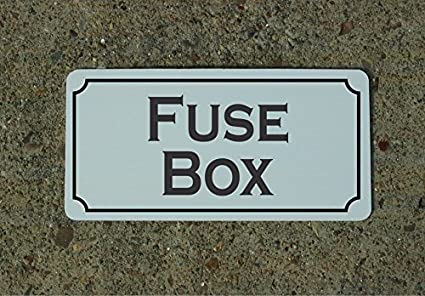 amazon com fuse box vintage style metal sign decor office products panel fuse box diagram fuse box vintage style metal sign decor