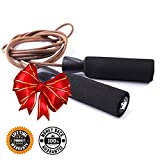 Jump Rope :: Skipping Ropes for Workout and Speed Skip Training :: Best Jumping Rope for Cardio Fitness Exercise - Leather - JRL