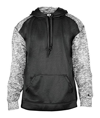 (Badger Sportswear BG1462 Men's Blend Sport Hooded Fleece Black 2XL )