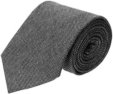 FLATSEVEN Designer Woven Check Plaid Neck Tie