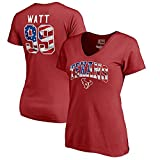 Fanatics Branded J.J. Watt Houston Texans Women's Banner Wave Name & Number T-Shirt - Red (XX-Large)