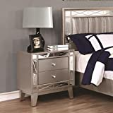 mirrored bedroom furniture Coaster 204922-CO Master Bedroom Collections Nightstand