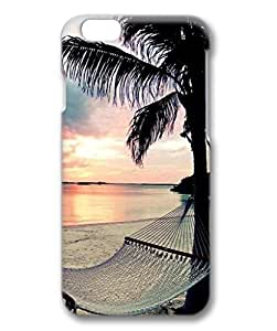 iCustomonline Case for iPhone 6 (4.7 inch) 3D, Beach Ultimate Protection Printed Colorful Cute Designed Slim Stylish Painted Clear Case for iPhone 6 (4.7 inch) 3D