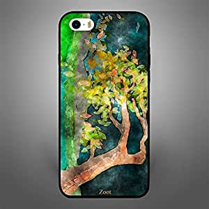 iPhone 5S Watercolor tree leaves