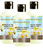 MONOI de TAHITI VANILLA TIKI OIL 100 % Natural / 100% PURE BOTANICALS. 2 Fl.oz.- 60 ml. For Skin, Hair and Nail Care.