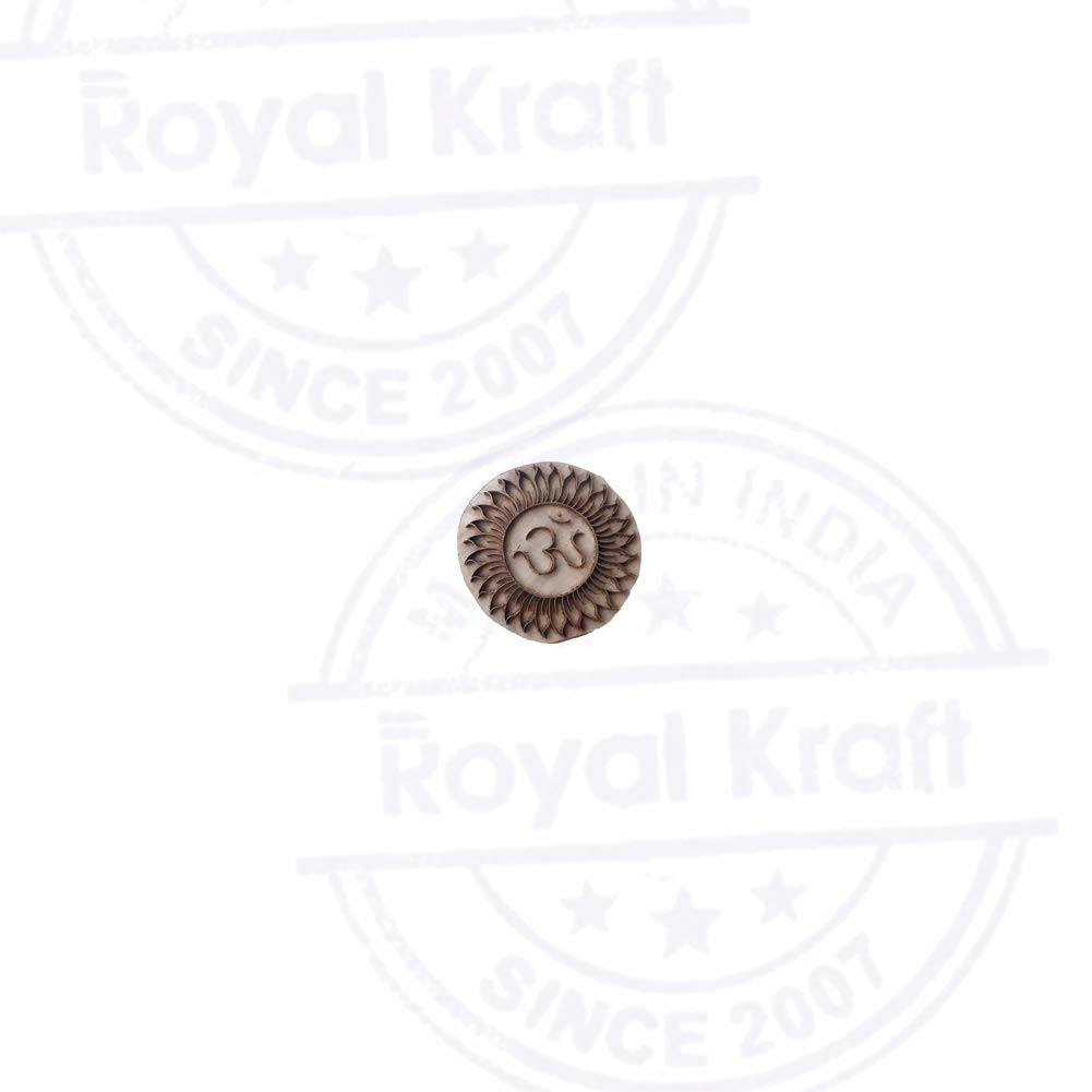 Royal Kraft Jaipuri Blocco Timbri Ottone Om Disegno Ceramica Legno Stampa