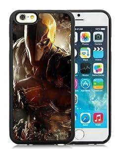 Custom-ized Phone Case Batman Arkham Origins Deathstroke Warner Bros Games Montreal Dc Comics Arkham Origins Video Games Black iPhone 6 4.7 Inch TPU Protective Phone Case