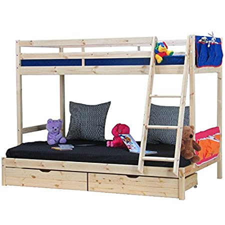 Thuka Bunk Bed With Ladder Drawers Slatted Frames And Fabric