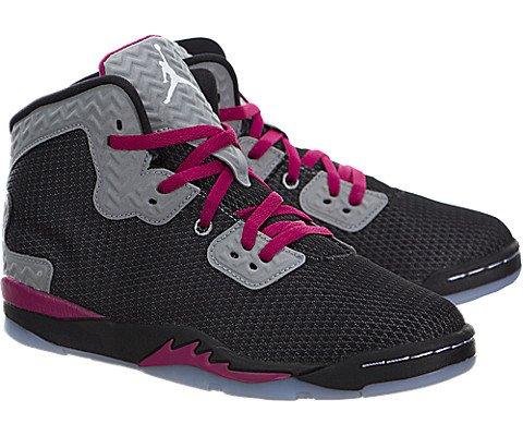 Nike Jordan Kids Jordan Spike Forty Gp Black/White/Rflct Slvr/Sprt Fchs Basketball Shoe 12.5 Kids US