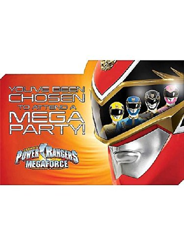 [Power Rangers Invitations (8 Pack)] (Power Rangers Megaforce Halloween)