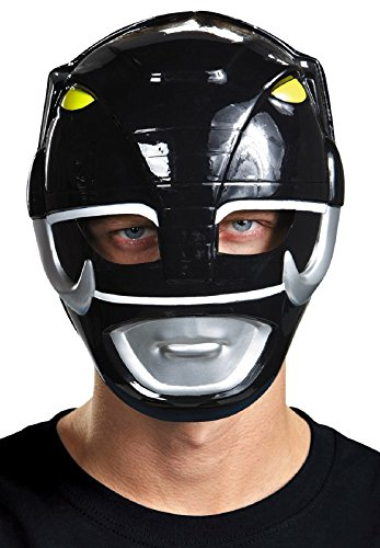 Disguise Costumes Black Ranger Vacuform Mask, Adult]()