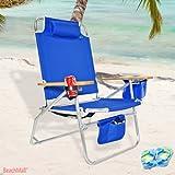 Big Jumbo Heavy Duty 500 lbs XL Aluminum Beach Chair for Big & Tall