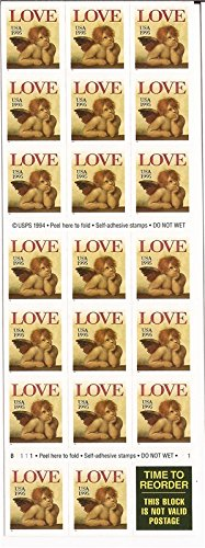 US Stamp - 1995 Love Cherub - Booklet Pane of 20 Stamps #2949a ()