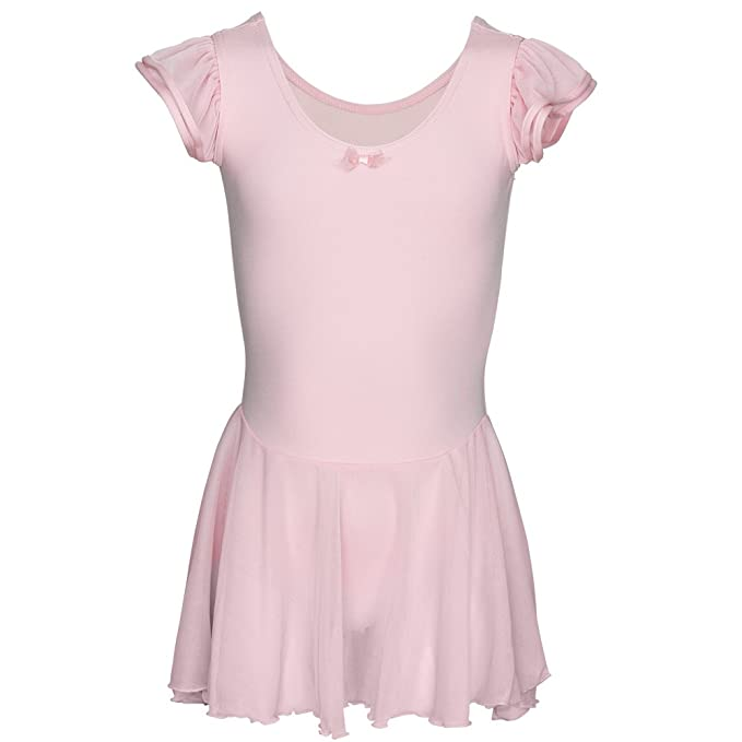Capezio 3973C Childrens Pink Flutter Sleeve Dress