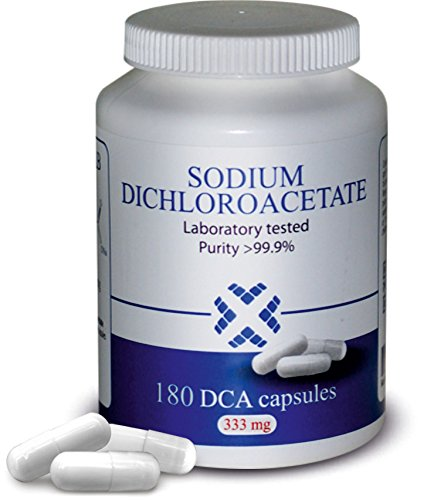 DCA - Sodium Dichloroacetate 333mg - Best Purity >99.9%, Made in Europe, By DCA-LAB, Certificate of Analysis included, Tested in a Certified Laboratory, 180 Capsules by DCA-LAB