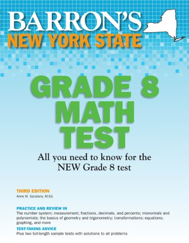 Barron's New York State Grade 8 Math Test, 3rd Edition