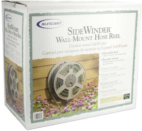 2 Pack Suncast SWA100 100 Ft Wall Mount Garden//Yard Hose Reel Side Winder
