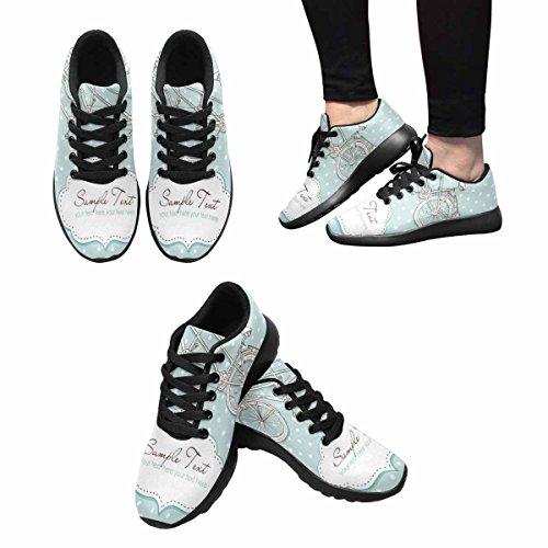Interestprint Kvinnor Trail Löparskor Jogging Lätta Sport Gå Atletiska Sneakers Tandemcykel Bröllopinbjudan Med Polka Dot Multi 1