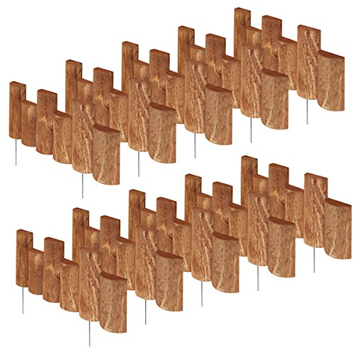 - Greenes Fence 18 in. Half Log Edging (10 Pack)