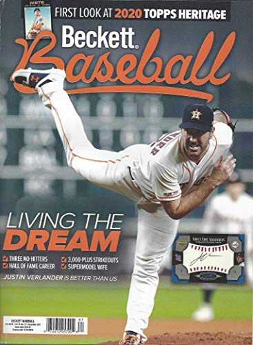 NEWEST GUIDE: Beckett Baseball Card Monthly Price Guide (October 16, 2019 release/J. Verlander cover) ***Pricing starts at 1980***