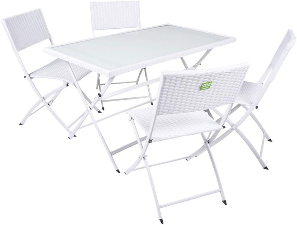 3x Stack sedia bistrot 4tlg giardino mobili da campeggio-set tavolo pieghevole tavolo 75x55cm