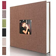 Self Adhesive Photo Album, Magnetic Scrapbook Album with 40 Pages Hardcover DIY Photo Album Hand Made Memory Book Holds 3×5, 4×6, 5×7, 6×8, 8×10 Photos for Wedding Birthday Christmas Anniversary