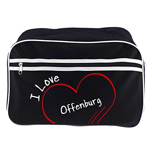 Retrotasche Modern I Love Offenburg schwarz