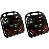 Bullz Audio 2BPE0R 1/0 Gauge Amplifier/Amp Wiring Kits with Platinum Terminals