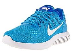 Nike Women's Lunarglide 8 Blue Glowwhitercr Bluehypr Turq Running Shoe 9.5 Women Us