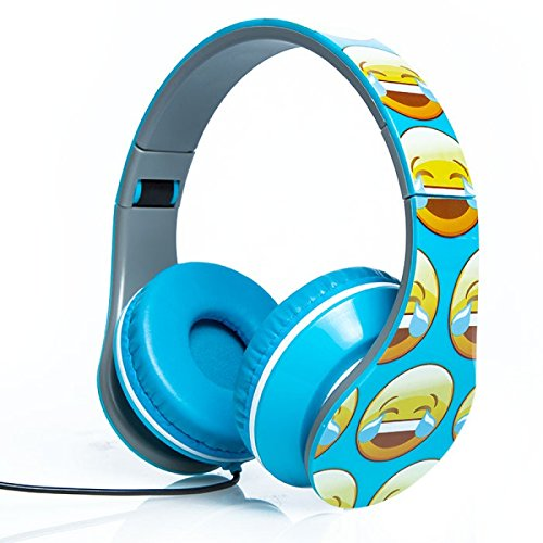 Smiley Print Over the Ear Foldable Headphone - Castle Mall Rock